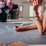 Smiling Woman Drawing a Mind Map